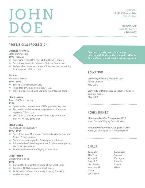 curriculum vitae Design Resumes Pinterest Design resume - resumes for teens