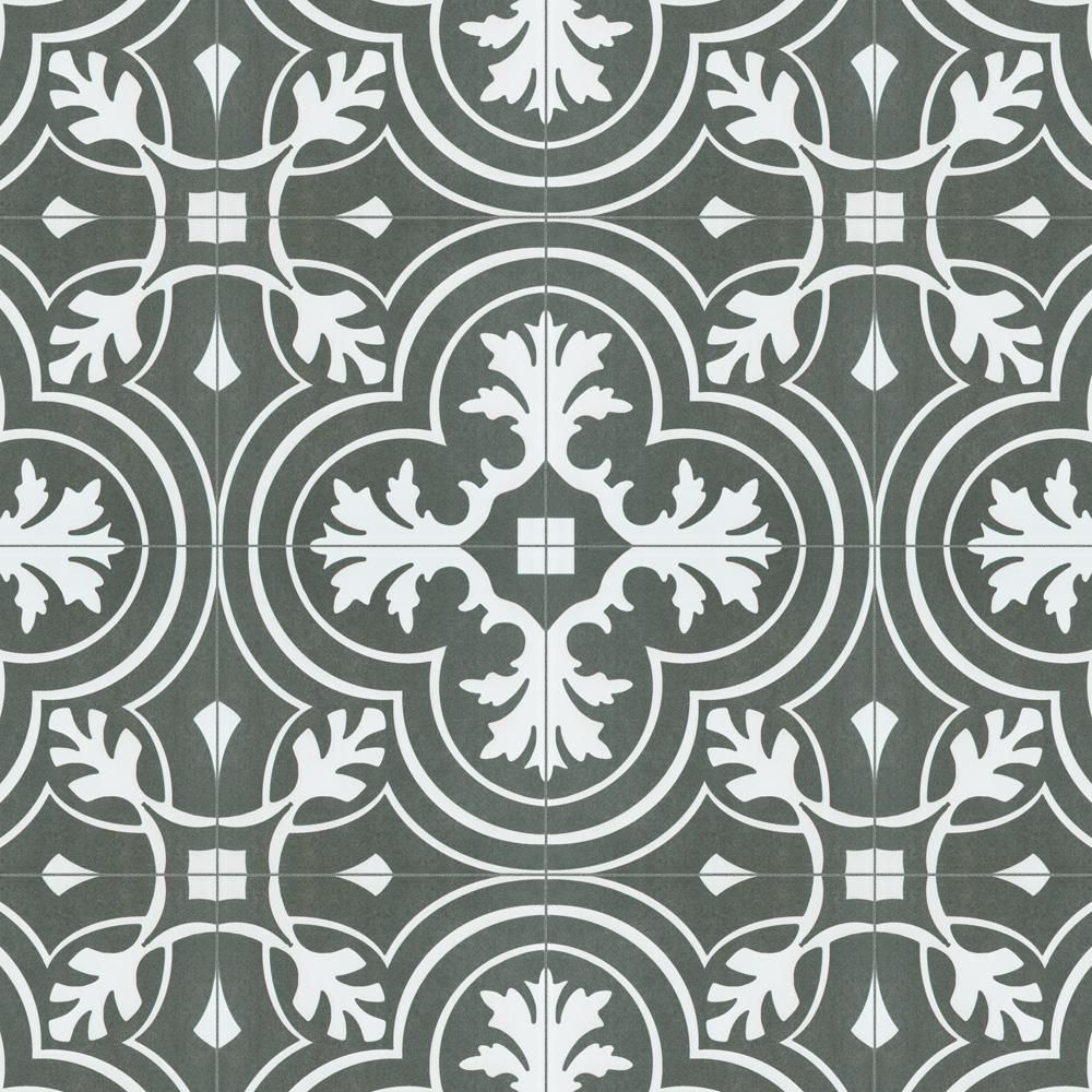 Merola Tile Twenties Classic Encaustic 7 3 4 In X Ceramic Floor And Wall 11 Sq Ft Case Frc8twcl The Home Depot Diy Patterns