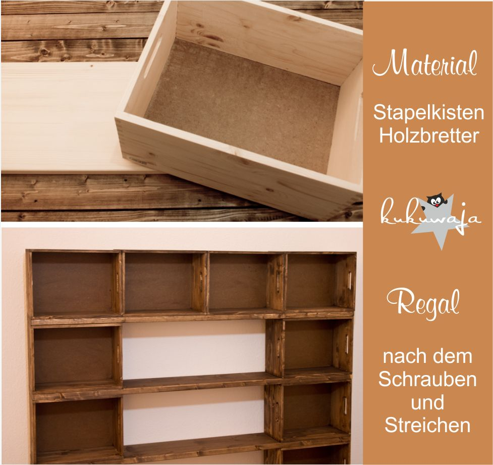 Diy Wooden Box Shelf Stapelkisten Holzregal Http Kukuwaja