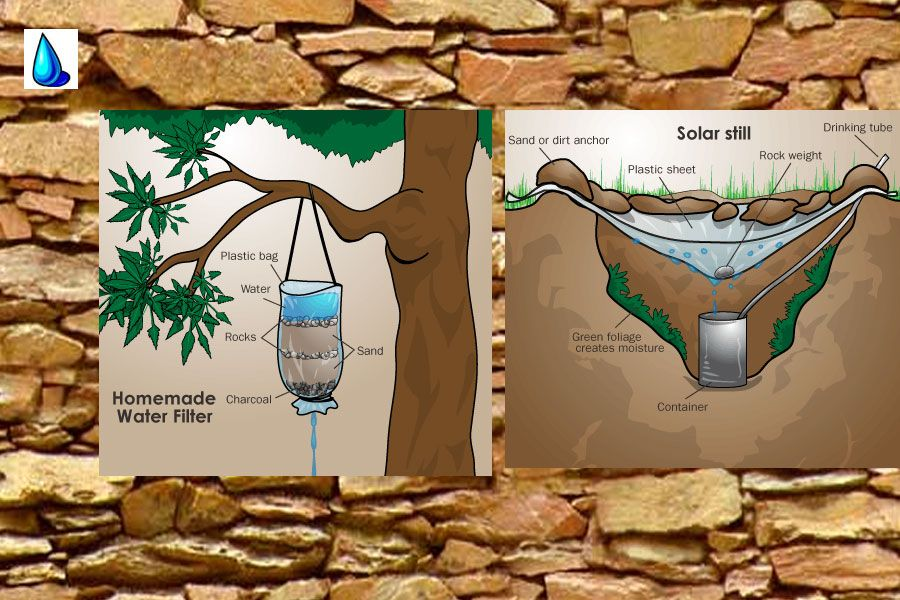 how to make a water filter without sand