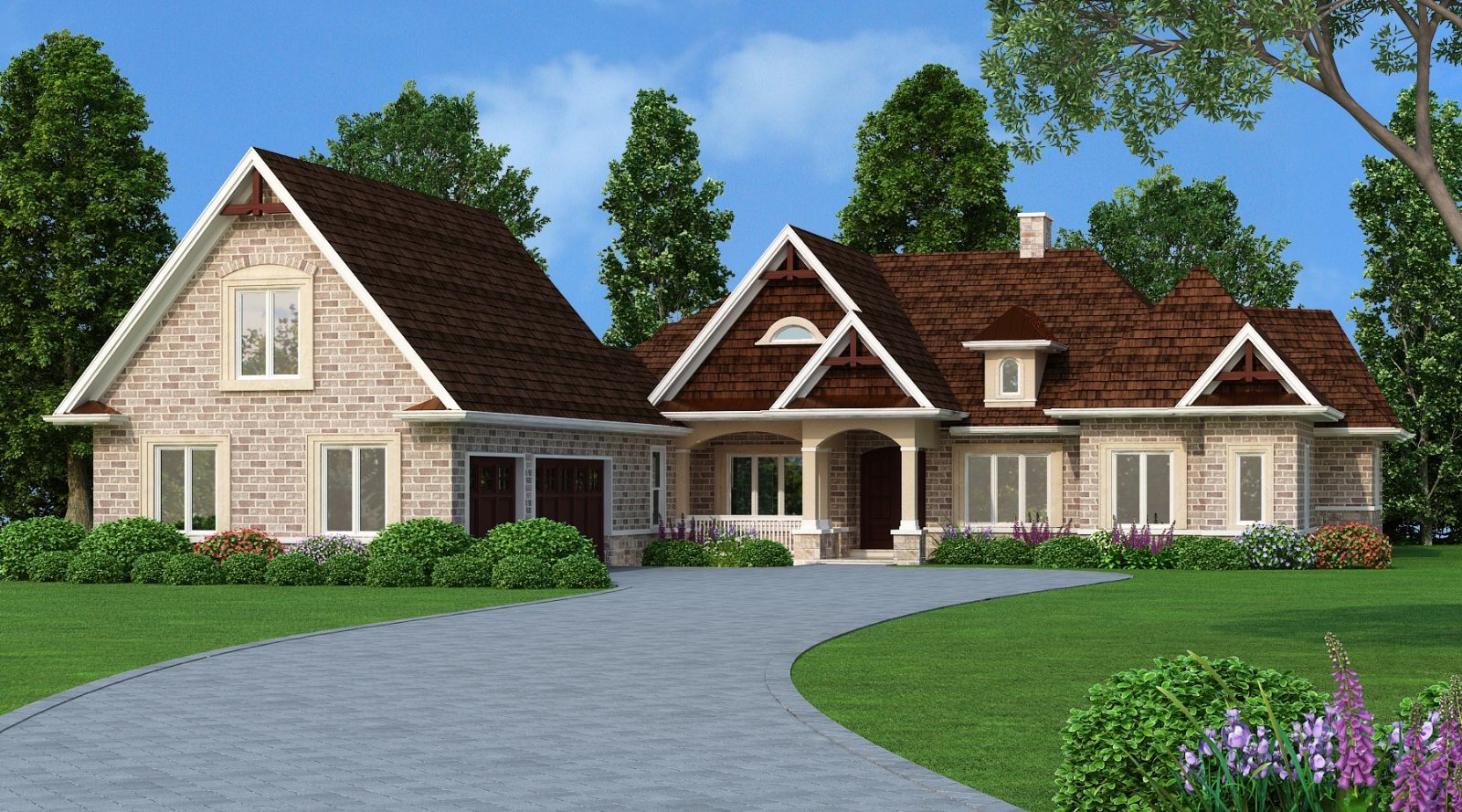 Neighbors And Passersby Will Compliment You On Your Lovely New Home. This  One Story Design Features A Nostalgic Front Porch, Which Promotes  Relaxation And ...