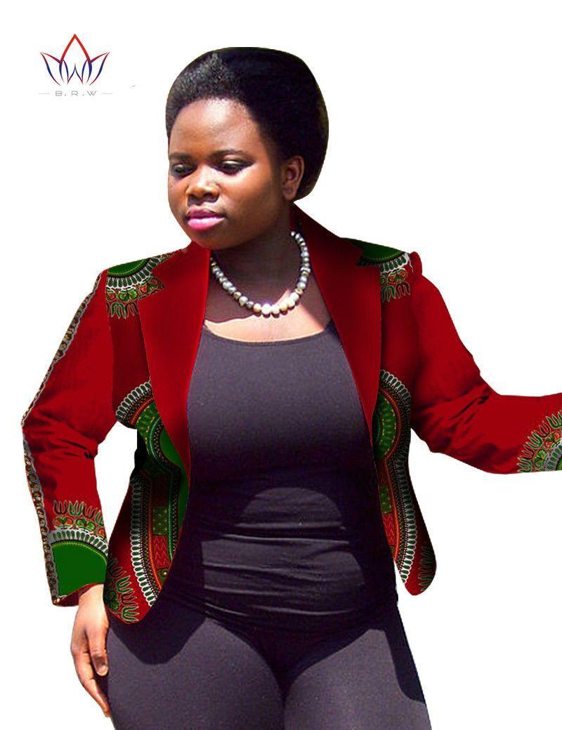 70943805edc Traditional African Clothing Women Blazers and Jackets Women Dashiki Tops  Plus Size Blazers For Women Jacket Slim 6XL WY747