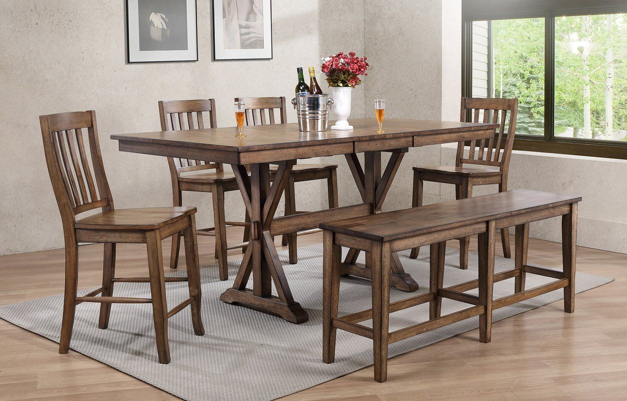 Clennell Counter Height Drop Leaf Dining Table Pub Table Sets