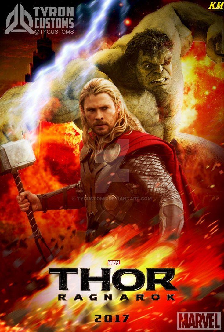Hulk Fan Art Hulk And Thor In The Movie Poster Ragnarok By