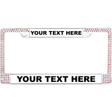 Bling Crystal Diamond License Plate Frames Personalized License Plate Frames Custom License Plates Wholesale License Frame - Use our Custom Tool!  sc 1 st  Pinterest & Custom Chrome Double Pink Diamond License Plate Frame | Auto Tag ...