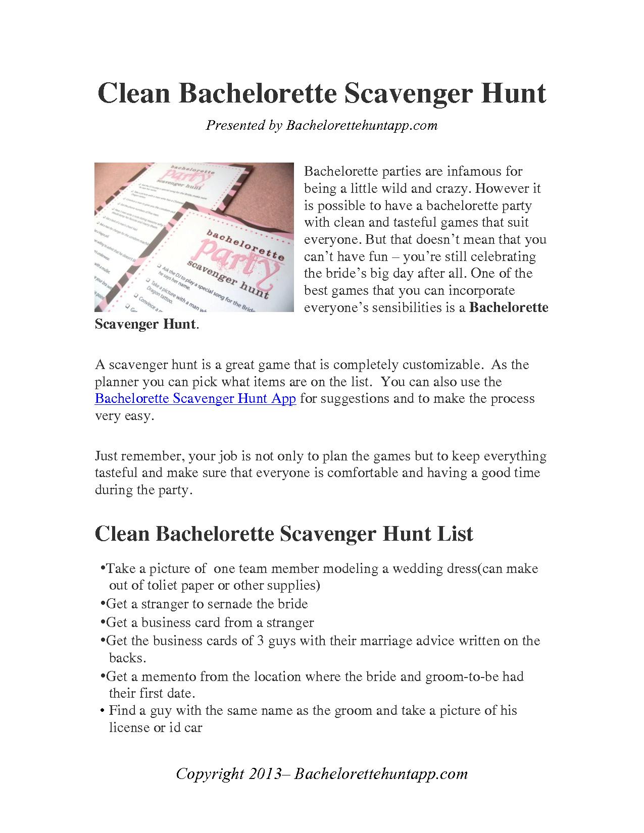 Classy Clean Bachelorette Scavenger Hunt Checklist Bachelorette Scavenger Hunt Trendy Bachelorette Party Awesome Bachelorette Party