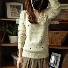 Frete grátis 2015 outono inverno mulheres Tops moda Casual Sexy capuz de malha de natal assentamento camisa Plus size(China (Mainland))