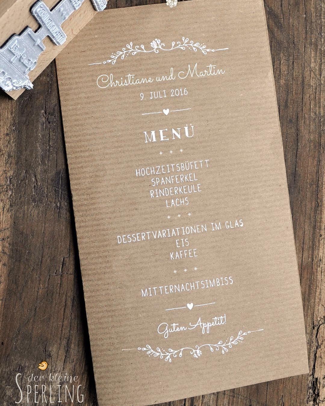 Werbung Ein Extragrosser Menu Stempel Fur Eure Hochzeit Stempelt Auf Kraftpapier Weissem Papier Oder Stoffservietten Ht In 2020 Spanferkel Eis Kaffee Papier