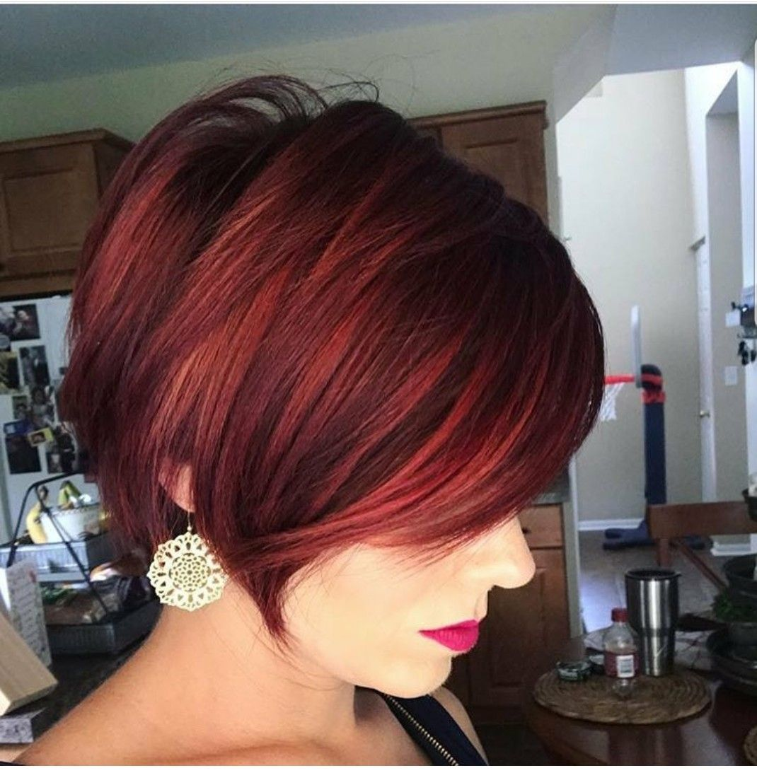 Pin By Niki On Fabulous Bobs Pixies And Hairstyles Short Red Hair Short Hair Balayage Hair Styles