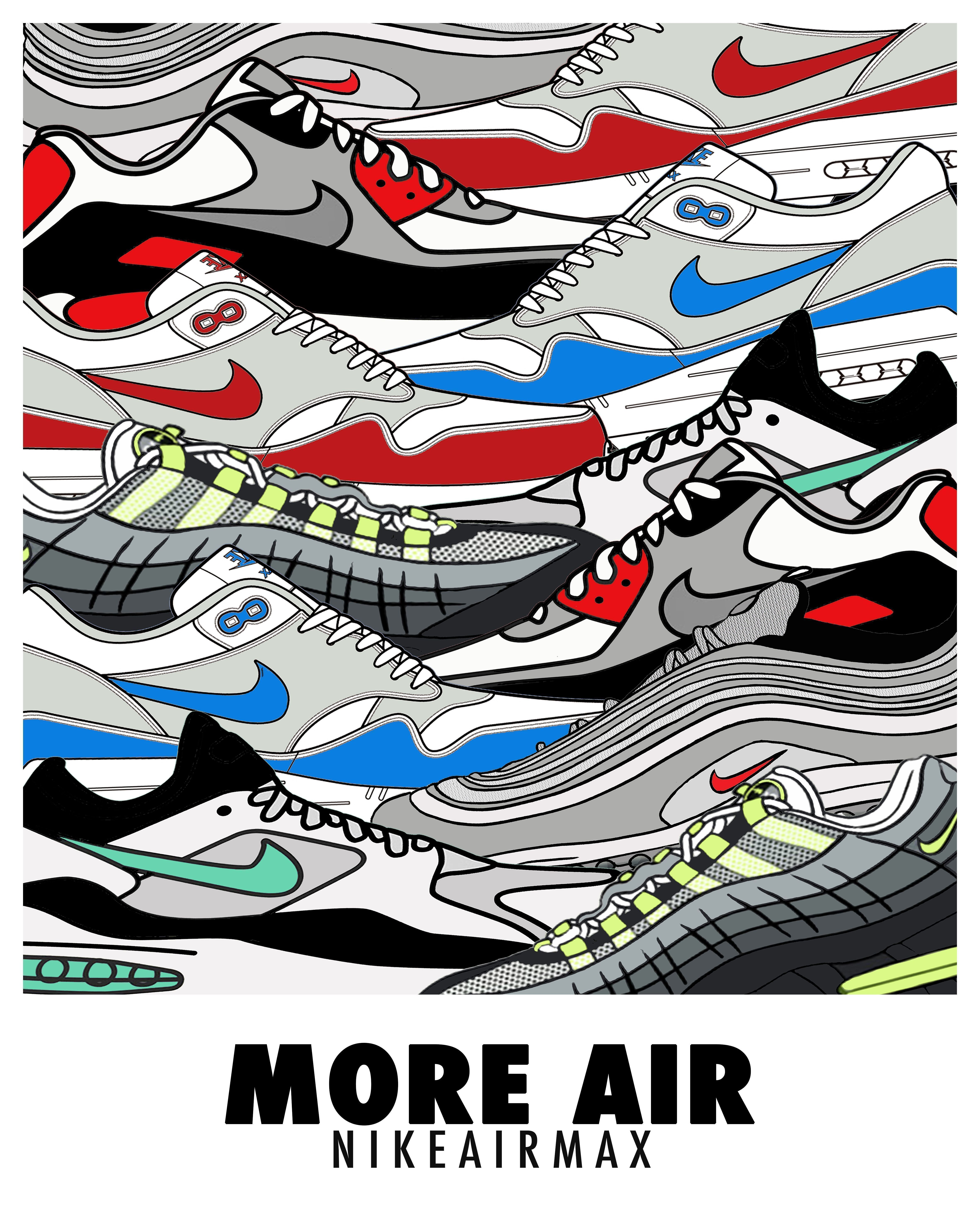 info for 21993 2e029 More Air Nike Air Max Print with all the original colourways ...