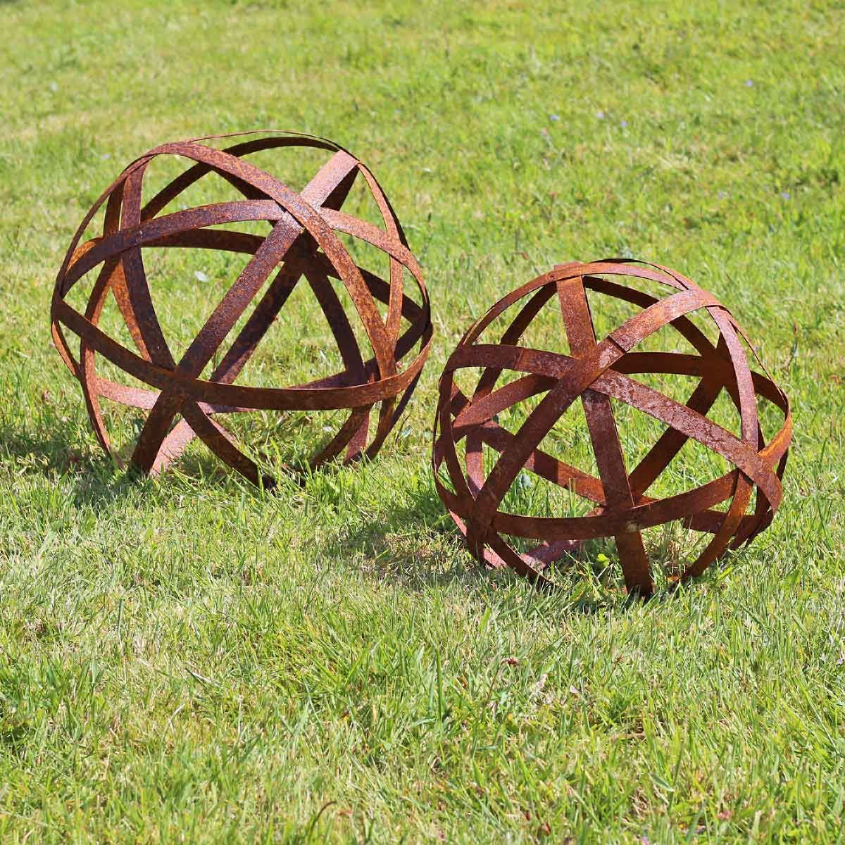 Boule A Arceaux Deco Jardin En Metal Decorations De Jardin En Metal Objet Deco Jardin Deco Jardin