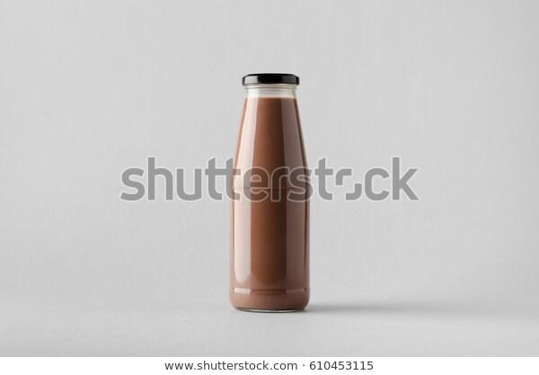 Chocolate Milk Bottle Mockup Stock Photo Edit Now 610453115 Chocolate Milk Bottle Mockup Milk Bottle