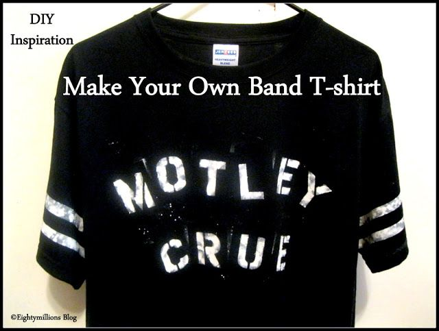 Eightymillion: DIY Inspiration: Make Your Own Band T-Shirt (For
