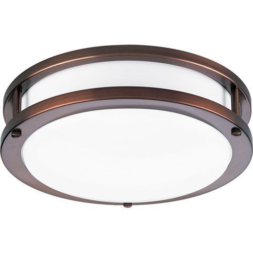 P7249 174ebwb: Urban Bronze White Acrylic One Light Energy Star Semi Flush Progress Flush