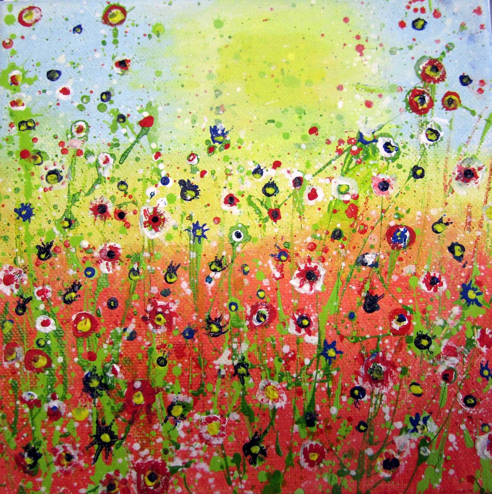 Acrylic painting ideas for beginners her fabulous art for How to paint with acrylics for beginners