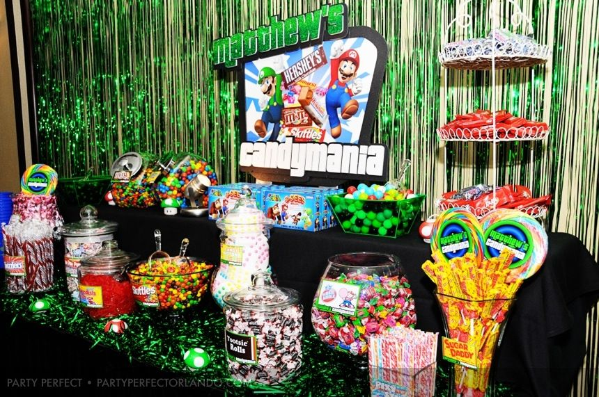 Video Game Bar Mitzvah Candy Bar Bar Mitzvah Themes And