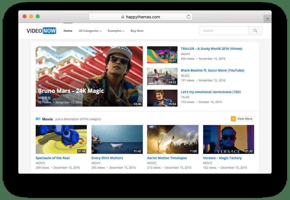 VideoNow WordPress Video Blog Theme | Web Design Sydney | Pinterest