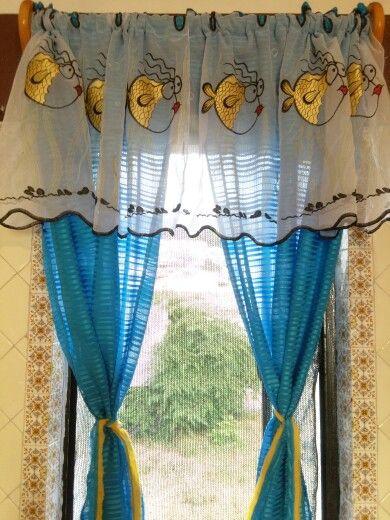 Beach Kitchen Curtains
