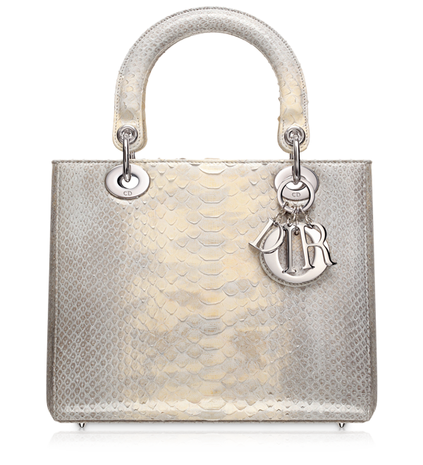 f77e06f2498f4 LADY DIOR - Graded grey-blue python  Lady Dior  bag