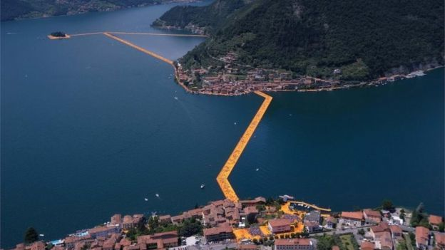 Muelles flotantes de Christo - Lago Iseo - Italia - Jun 2016