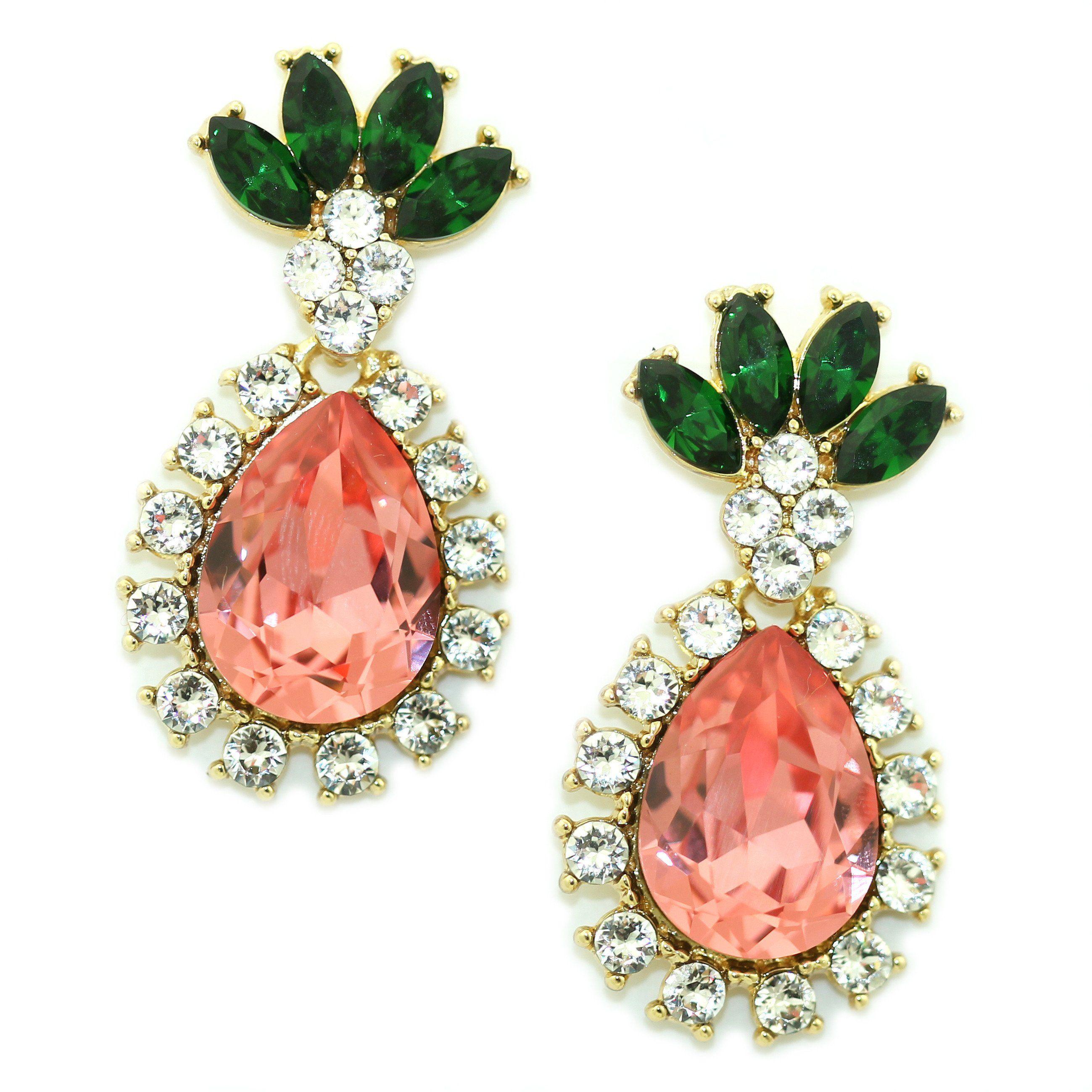 Pineapple Drop Earrings