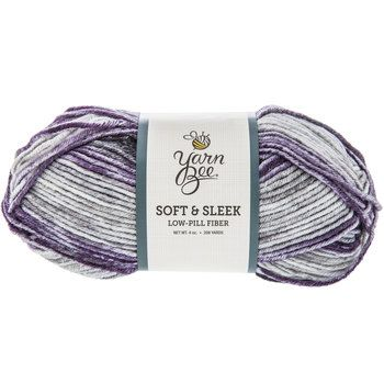 Purple & Gray Multi Yarn Bee Soft & Sleek Yarn | Yarn | Pinterest ...