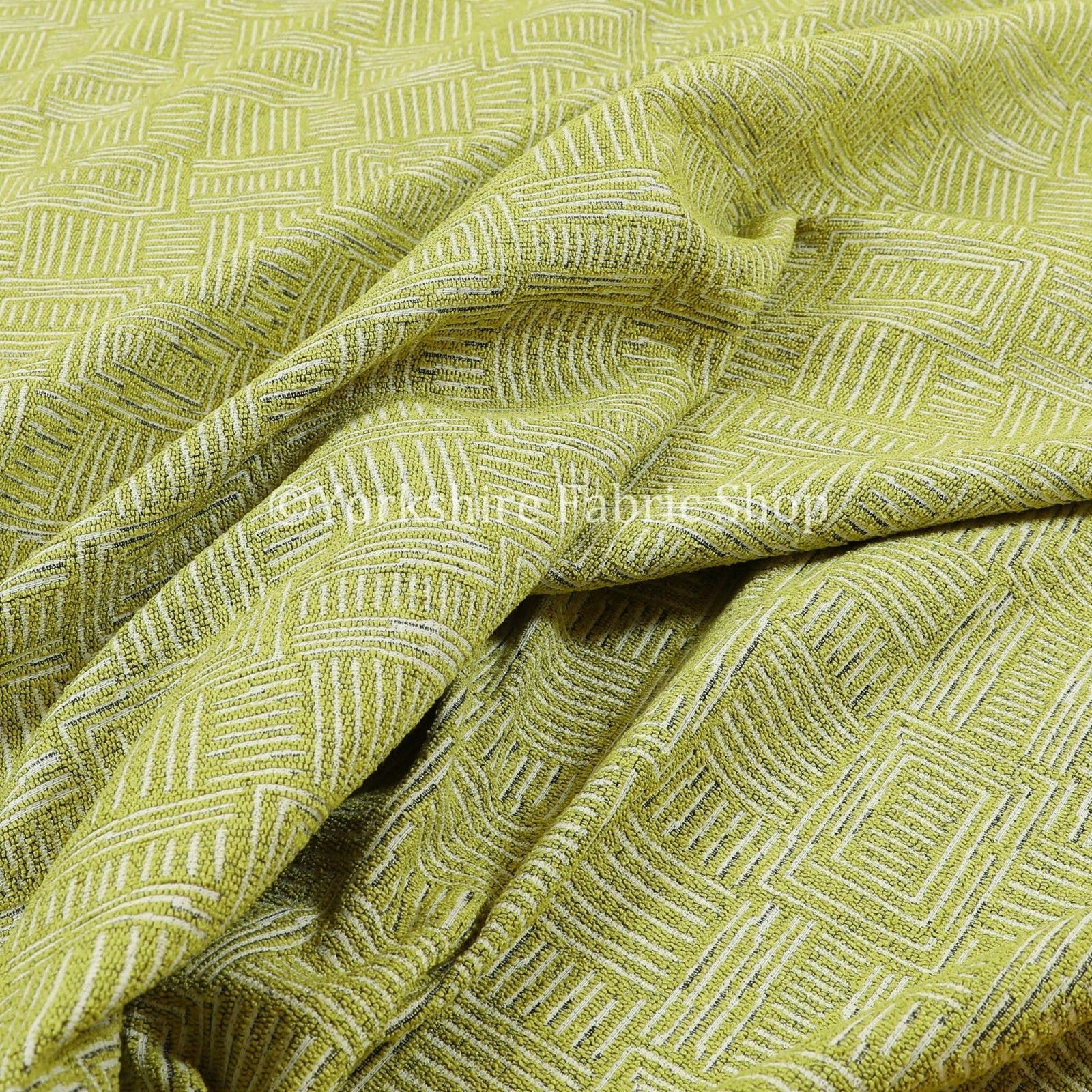 new soft chenille woven modern gingham patchwork green white