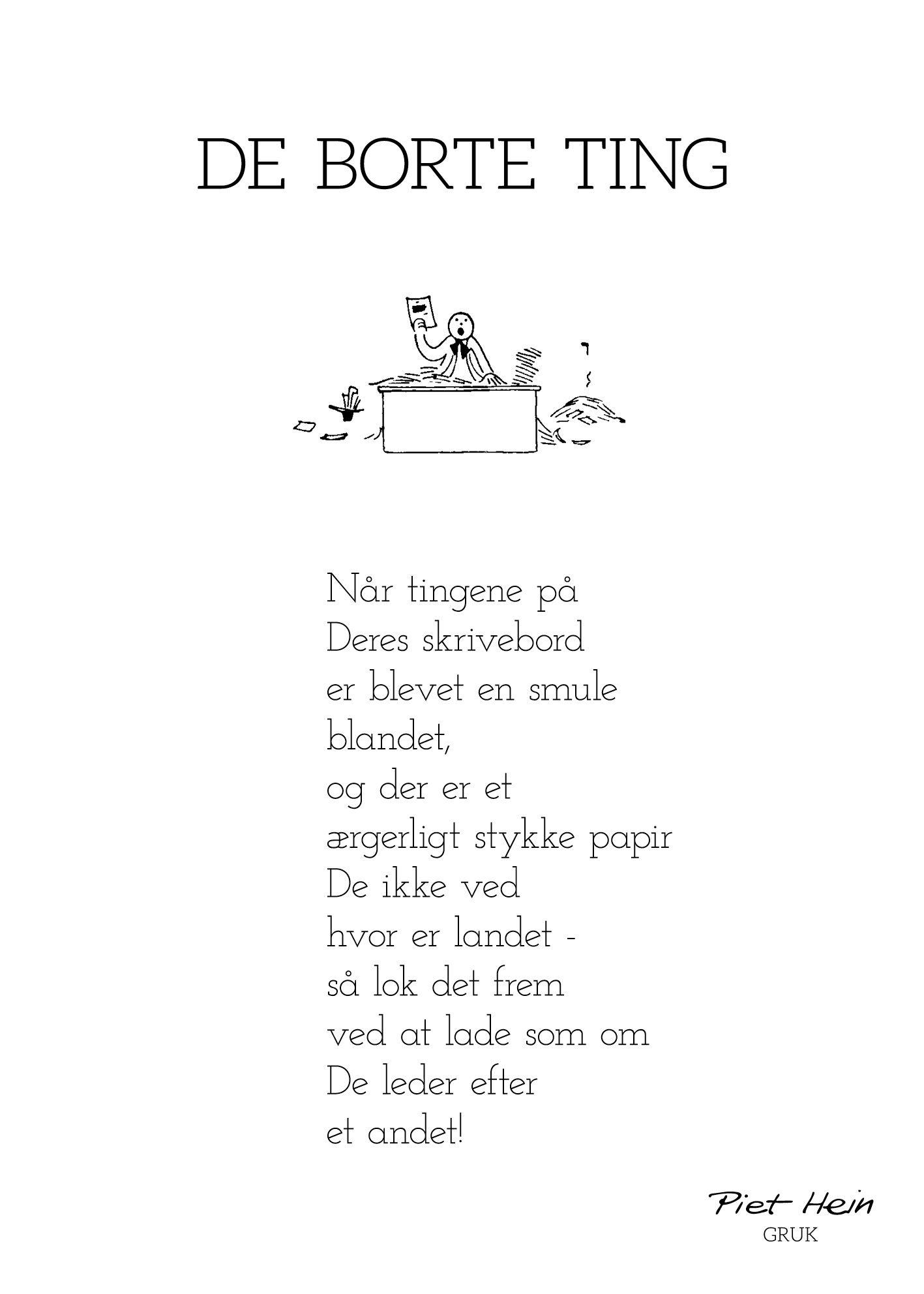 Billedresultat For Piet Hein Gruk Citater Sode Ord Ord