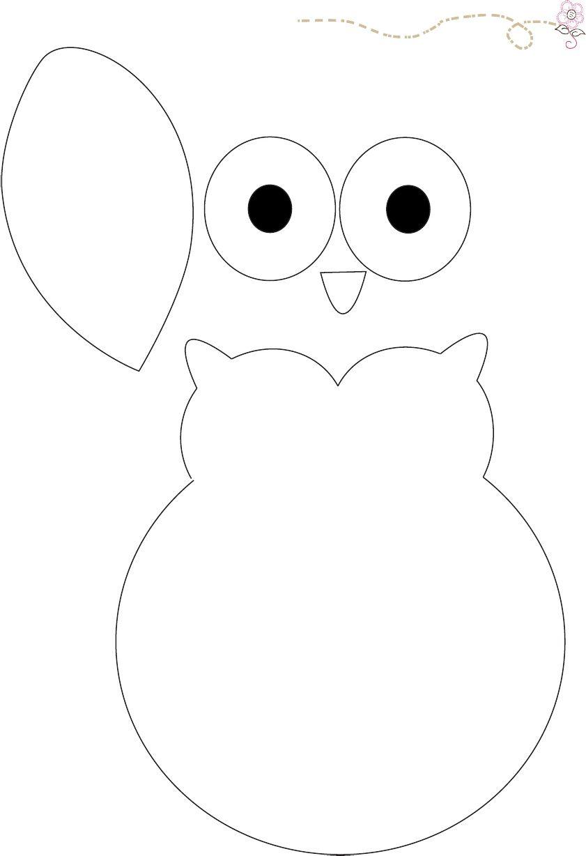 buho molde para cartulina | Regalos | Pinterest | Owl, Molde y Fieltro