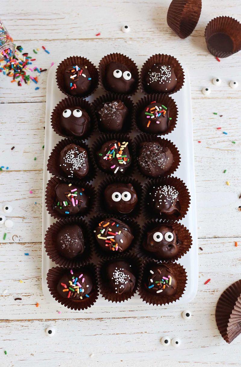 Trufas de chocolate sin cocción | A beautiful mess