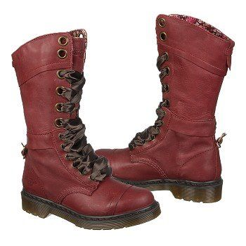 Women's Dr. Martens Triumph 1914 W Cherry Red Leather Shoes.com