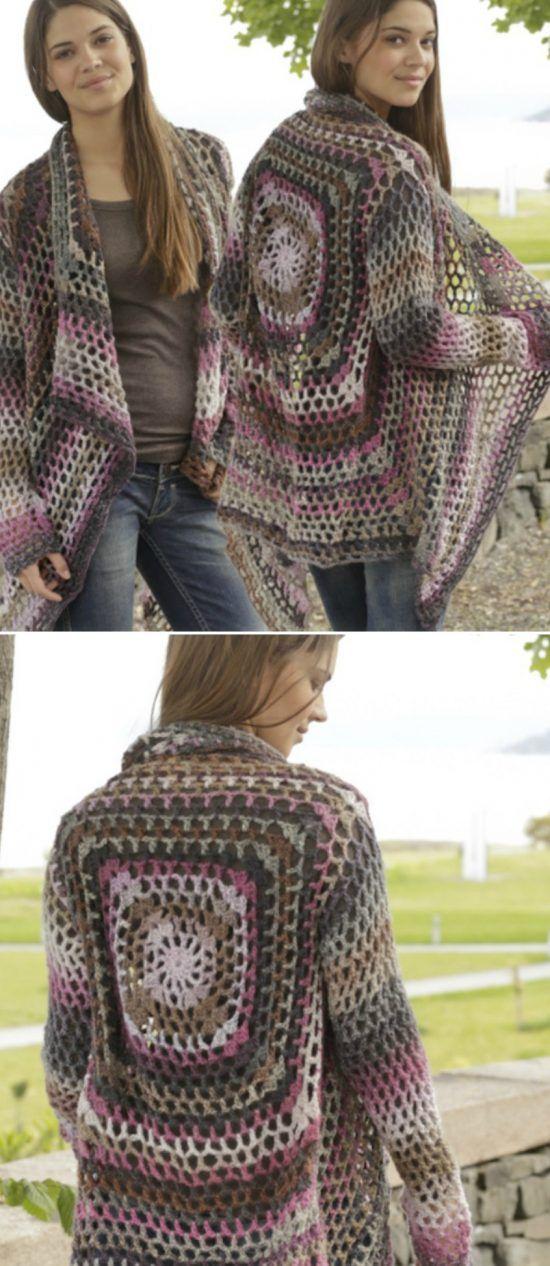 DIY Crochet Lace Jacket Pattern Ideas | Tejidos de punto, Tejido y ...