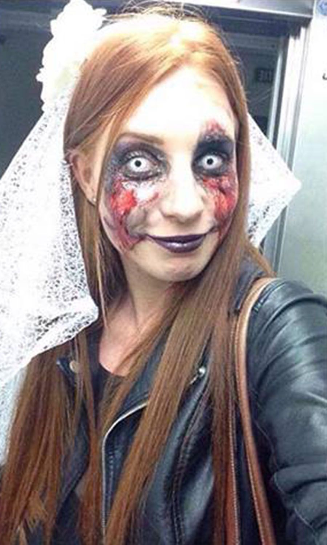 Maquillage Halloween Mariee.Married Halloween Mariee Makeup Mariage Rate Gore Makeup Mariage Mariage Marie