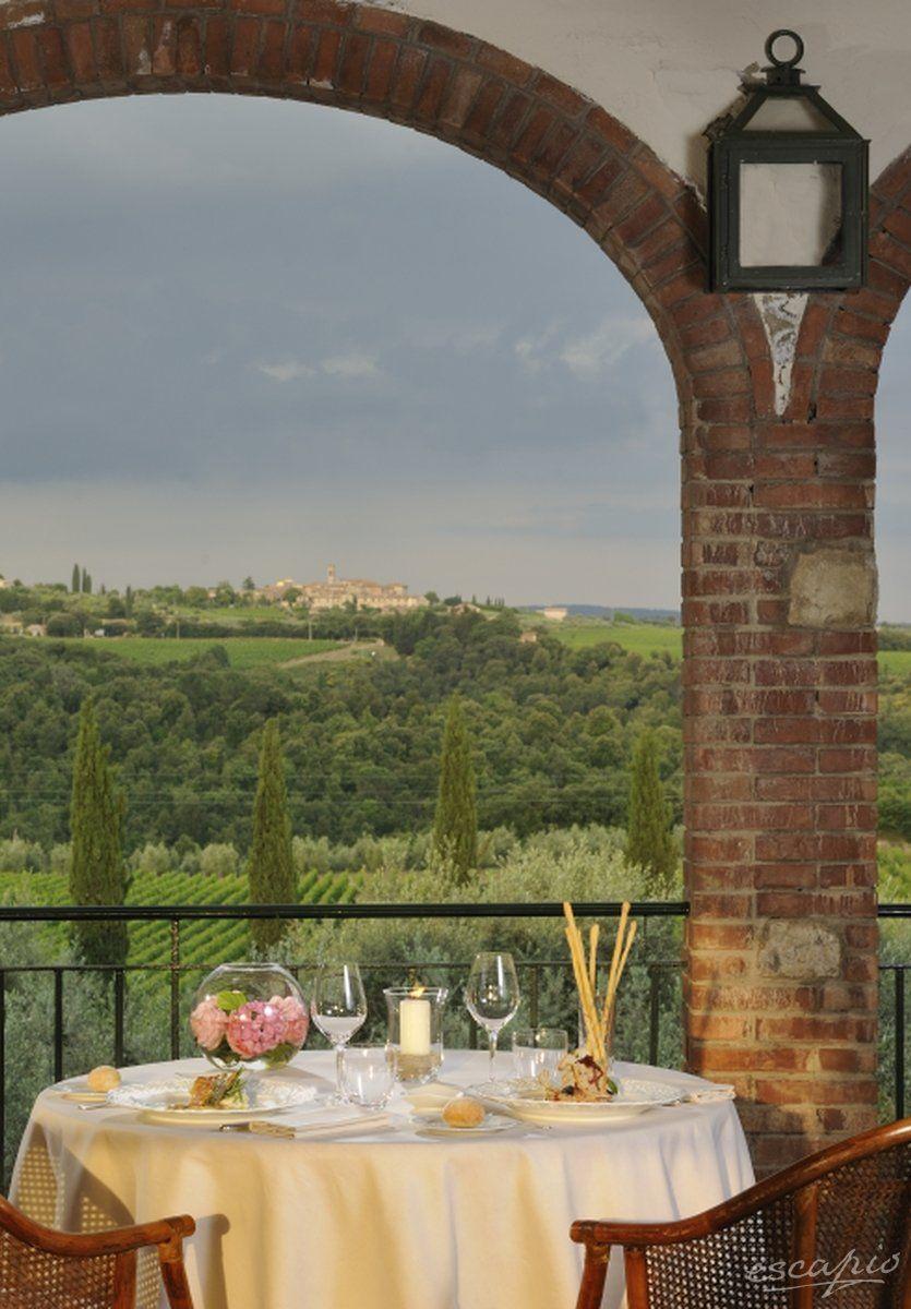 Klassische Toskana Aussicht: orgo San Felice, Castelnuovo Berardenga, Italien