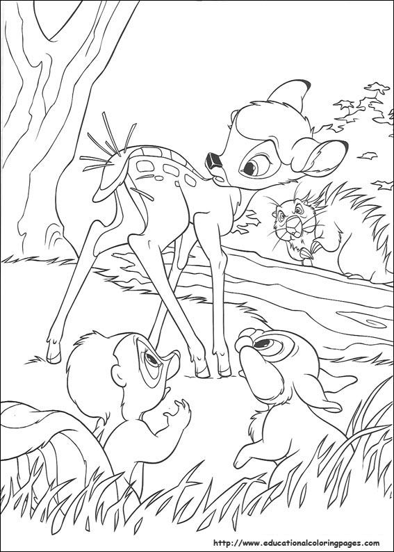 Explore Bambi Coloring Book 39 And More