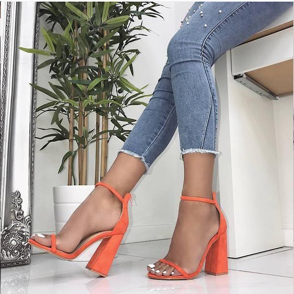 Wedding heels women buckle strap heels