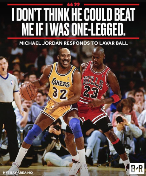 Michael Jordan Doesn T Think Lavar Ball Stands A Chance Michael Jordan Basketball Michael Jordan Basketball Is Life