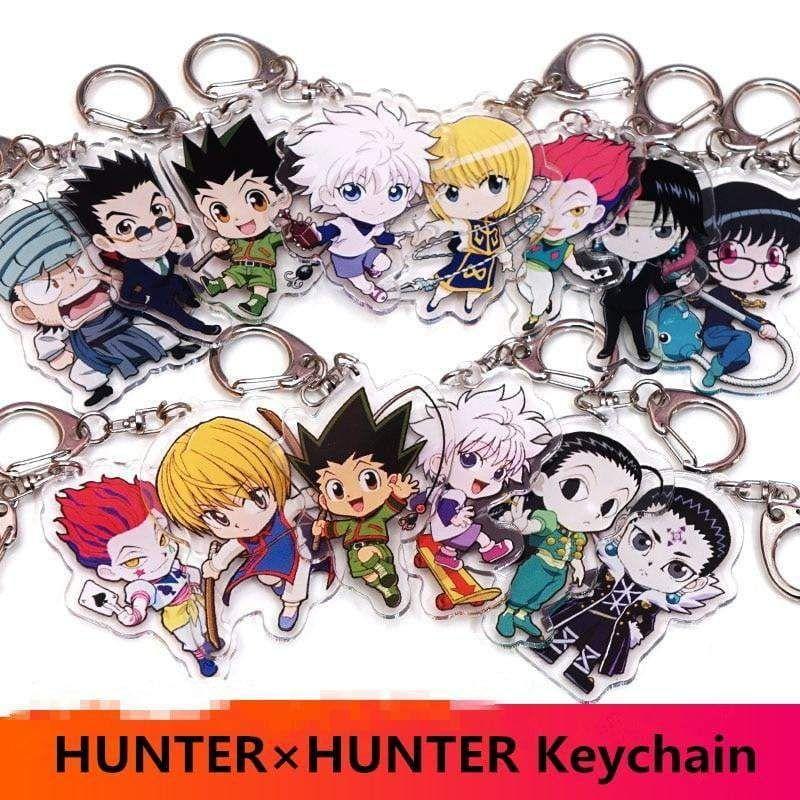 Set of 4 Hunter x Hunter Anime Acrylic Keychain Killua Gon Kurapika Leorio