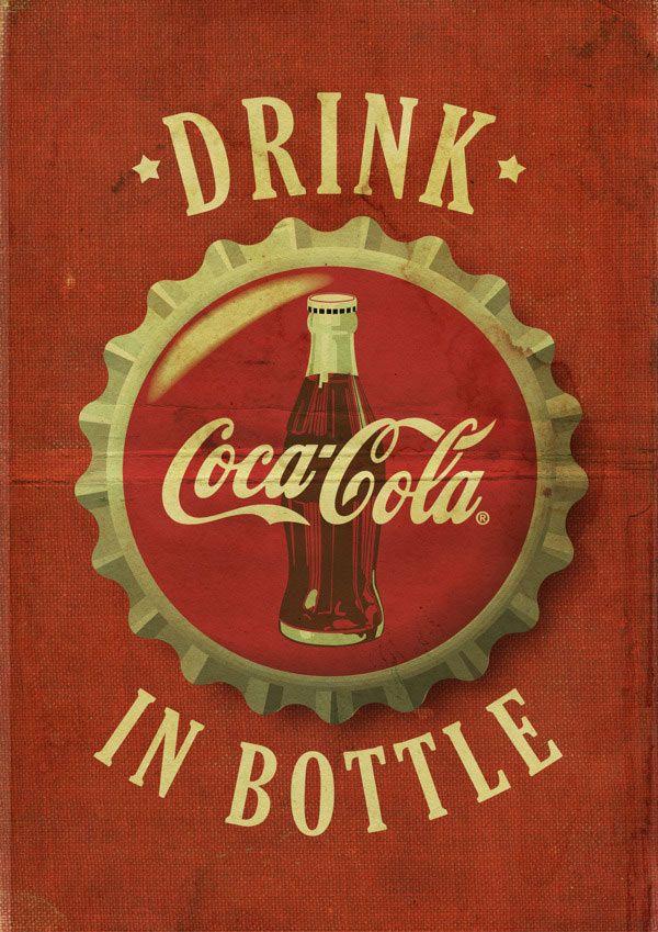 digital vintage coca cola poster vintage advertising pinte. Black Bedroom Furniture Sets. Home Design Ideas