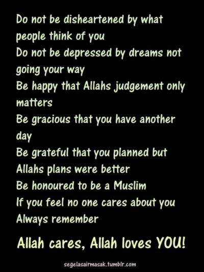 Do Everything For The Sake Of Allah And Everything Will Be Fine