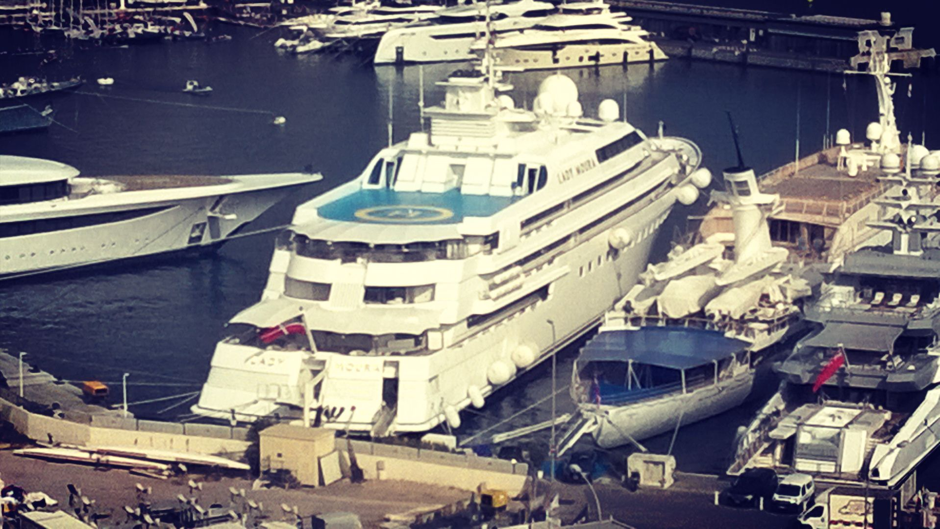 Porthercule Today In The Harbour Of Monaco Super Yacht Lady Moura
