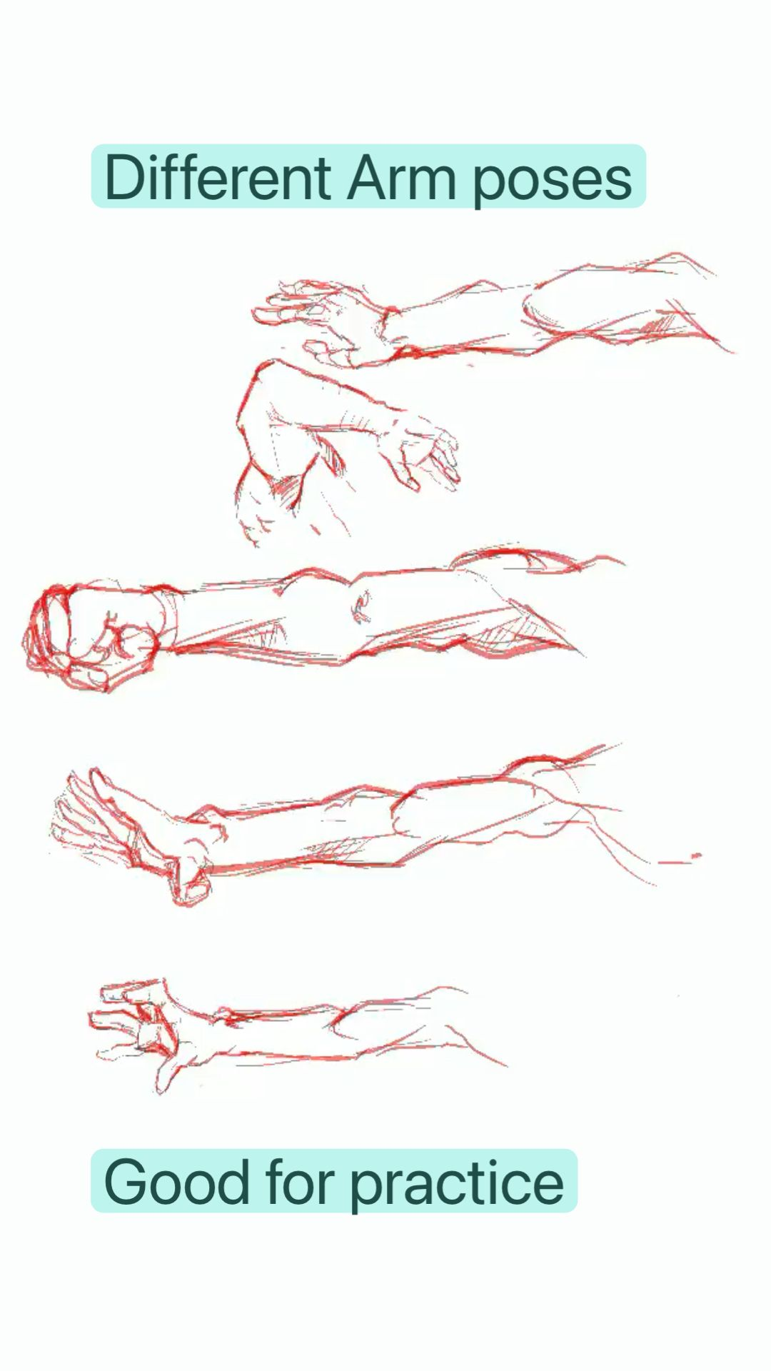 Different Arm poses references