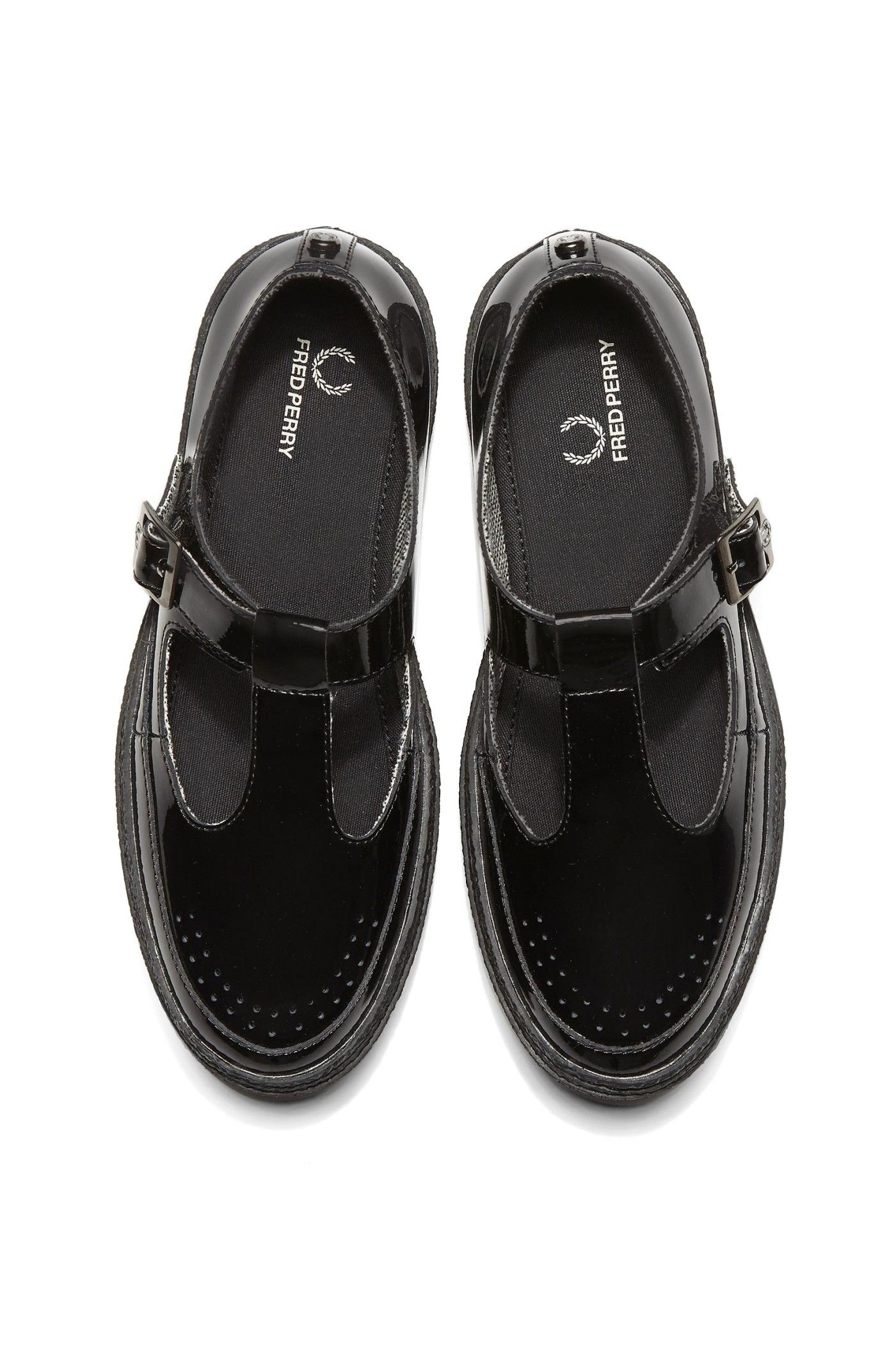 Fred Perry - Ronnie Patent Leather Black