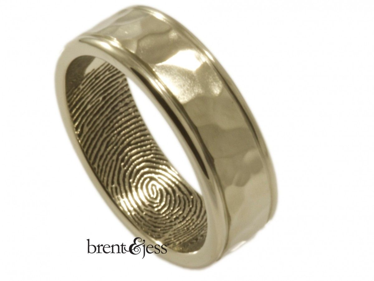 gay wedding bands fingerprint wedding ring men s white gold Google Search