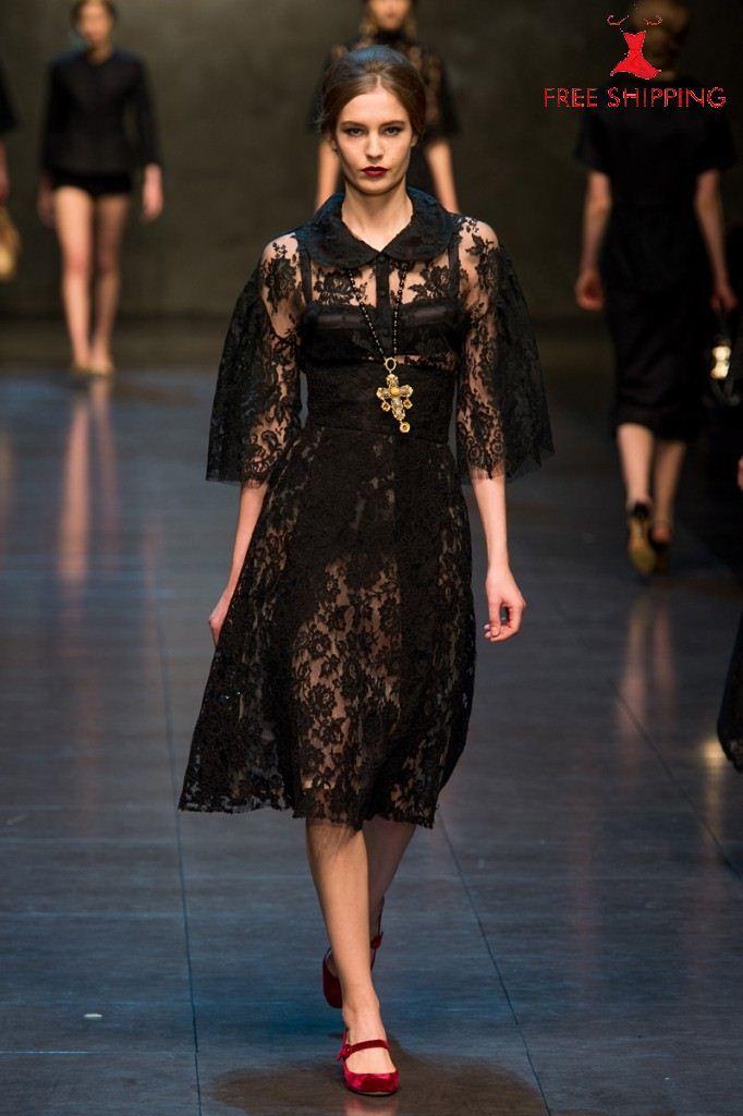 Dolce & Gabbana F/W 13-14 Womens Black Lace Dress | all DRESSED up ...