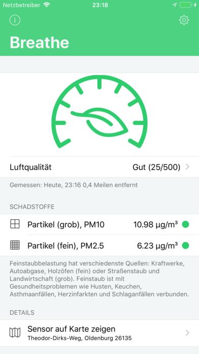 Breathe Luftqualitätsmonitor für Android Download