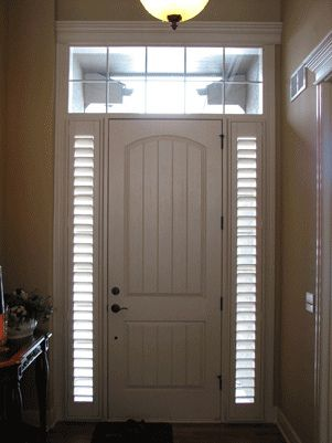 Custom Sidelight Shutters Front Door Custom Shutters House Exterior