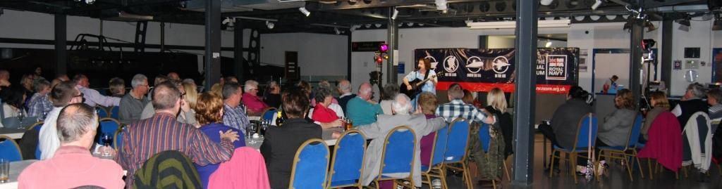 """Great audience for the first """"Great Big Submarine Comedy Night Out"""" at the Royal Navy Submarine Museum"""