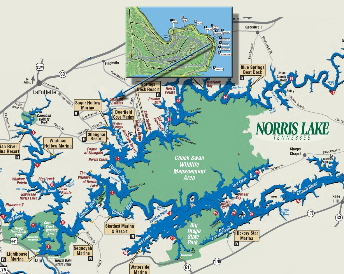 Norris lake Map Close to Home Pinterest Lakes Vacation and