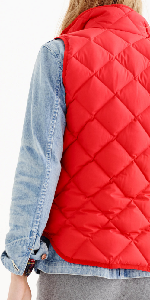 Quilted Vest by j.crew
